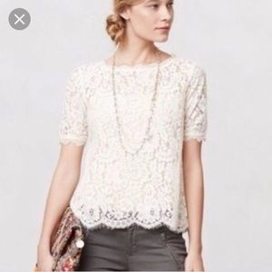 Anthro l Vanessa Virginia Elysian Lace Top